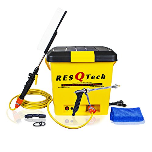 Resqtech 25 Liter 12V Dc Bucket Car Washer - Yellow