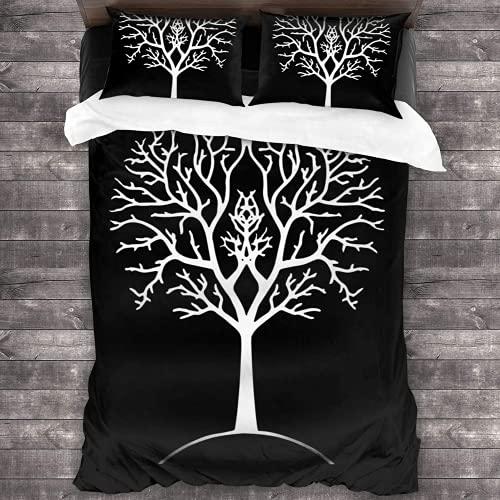 ZSHZSY Juego de ropa de cama infantil de H-er-r de los anillos, 135 x 200, 3D, microfibra, 3 piezas (estilo 4, individual 135 x 200)