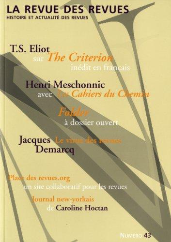 La revue des revues, N° 43, printemps 201 :
