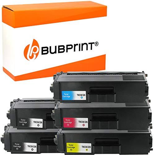 5 Bubprint Toner kompatibel für Brother TN-326 TN-326BK TN-326C TN-326M TN-326Y für DCP-L8400CDN DCP-L8450CDW HL-L8250CDN HL-L8350 HL-L8350CDW MFC-L8650CDW MFC-L8850CDW Set