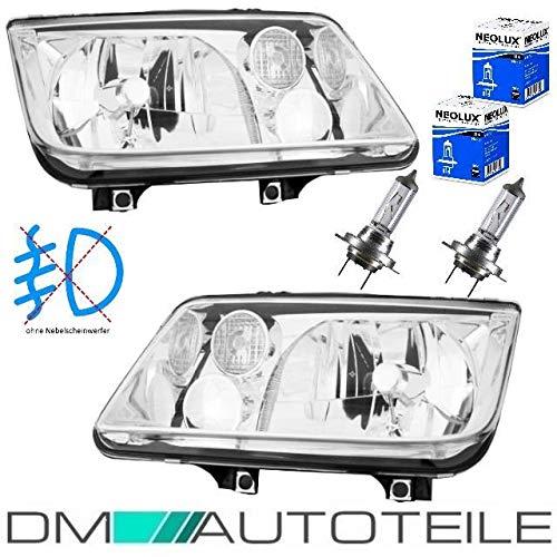 DM Autoteile Bora 1J Scheinwerfer RECHTS LINKS 98-05 H4 ohne Nebel für Hella+MARKENBIRNEN