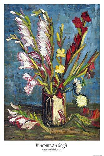 1art1 Vincent Van Gogh - Vase Mit Gladiolen, 1886 Poster 91 x 61 cm