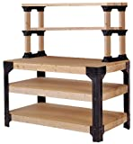 2x4basics 90164 Custom Work Bench and Shelving Storage...