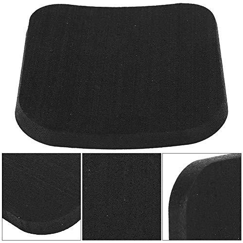 JULYKAI Alfombrilla de Goma, Almohadilla de Goma Impermeable, 6 Piezas de amortiguación Antideslizante Suave para Gimnasio en casa(Pure Black 6 Pieces)
