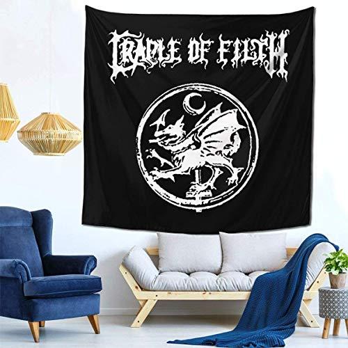 Manta decorativa de la pared de los tapices para el tapiz de la sala de estar y del dormitorio 59 * 59 pulgadas Cradle of Filth