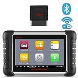 Autel MaxiCOM MK808BT Outils de Diagnostic Auto OBD2 Scanner de Bluetooth avec Purge de Frein, TPMS, Réinitialisation Huile, EPB, SAS, BMS, DPF, IMMO - Version Améliorée du MK808