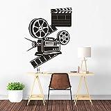 Reproducción De Películas Cámara Vinilo Pared L Rollos De Película Pared R Cine Decoración...