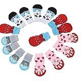 N\A 4 pares de calcetines antideslizantes para perros y gatos...