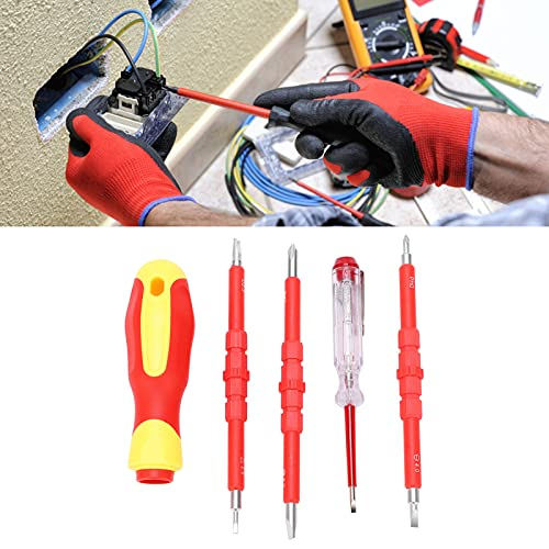Herramientas de reparación para electricistas, destornillador magnético Diseño ergonómico Especificaciones completas Juego de destornilladores magnéticos para el hogar para electricistas