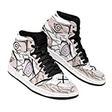 Neji Byakugan Eyes Sneakers Naruto Anime Shoes -Zapatillas de Baloncesto para Hombre, Antideslizantes, Transpirables, con Cordones, Zapatillas Deportivas al Aire Libre a Juego