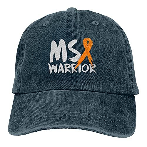 Jopath Ms Sclerosis Múltiple Awaren-3 Unisex Adulto Gorra Ajustable Vaqueros Sombreros Gorra De Béisbol Fun Cap