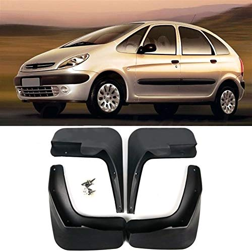 MOUNTAIN MEN Accesorios Mud Flaps 4pcs Coches Auto Set Guardabarros Guardabarros Guardabarros Delantero y Trasero Mudflaps en Forma for Citroen Xsara Picasso 2001-2012 Ajuste