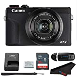 Canon PowerShot G7 X Mark III Digital Camera (Black) + 16GB Memory Card + Memory Card Reader + Pixibytes Microfiber Cleaning Cloth