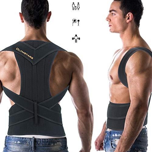 Olymstars Corrector de Postura, Adjustable Corrector Postural Espalda,Soporte Completo de Espalda y Alivio Del Dolor de Hombro