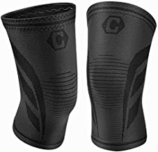 CAMBIVO 2 Pack Knee Brace, Knee Compression Sleeve Support for Men and Women, Running, Hiking, Arthritis, ACL, Meniscus Tear, Sports, Home Gym (Jet Black,Medium)