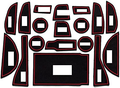 GXZYY 18 unids/Set Soporte de Taza con Ranura para Puerta Interior de Coche Almohadilla Antideslizante reemplazo de Alfombrilla con Ranura para Puerta, Apto para L/EXUS Nx300H 2015-2016