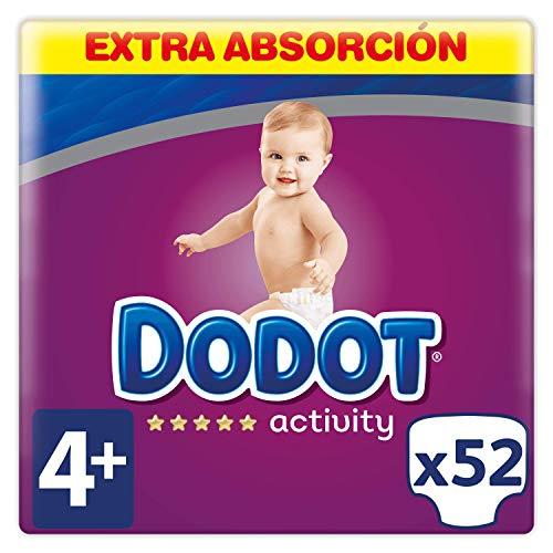 Dodot Activity Pañales Talla 4+, 52 Pañales - 10 - 15 kg