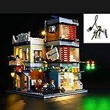 Set di luci a LED USB fai-da-te compatibile con Lego Creator Townhouse Pet Shop e Cafe 31097, kit di luci a LED per blocchi di modello Modello Regali di Natale per bambini (non incluso il modello)