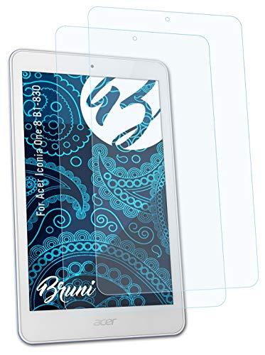 Bruni Schutzfolie kompatibel mit Acer Iconia One 8 B1-830 Folie, glasklare Bildschirmschutzfolie (2X)