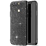 Compatible avec Huawei P9 Plus Coque,Placage Paillettes Brillante Bling Glitter de Luxe Strass Coque...