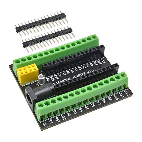 diymore Terminal Adapter Shield Erweiterungskarte für Nano V3.0 AVR ATMEGA328P mit DC NRF2401 Erweiterungsschnittstelle