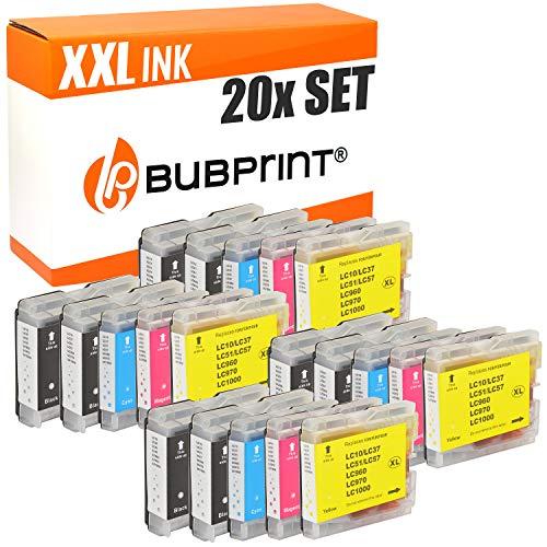20 Bubprint Druckerpatronen kompatibel für Brother LC-1000 LC-970 für DCP-130C DCP-135C DCP-150C DCP-350C DCP-357C MFC-235C MFC-240C MFC-260C MFC-465CN MFC-5460CN Fax 1355 Multipack