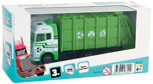 WDK PARTNER - A1300053 - Véhicules miniatures - Camion poubelle métal 12 cm - Coloris aléatoire