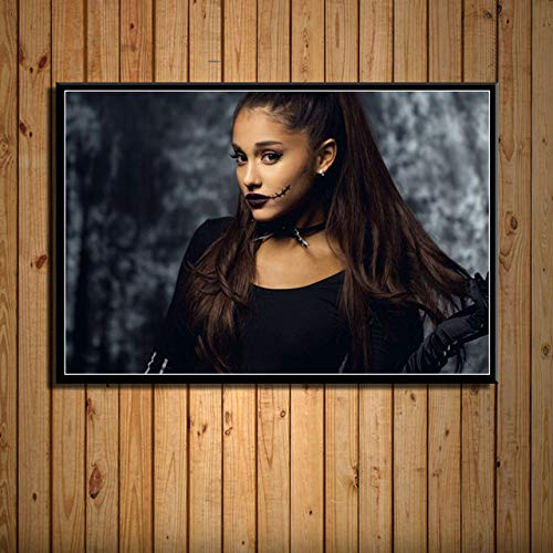 yiyitop Ariana Grande Popmusik Star Sängerin Schönheit Kunst Malerei Seide Leinwand Poster Wand Wohnkultur Kunstwerk obrazy Plakat 50x70cm (Kein Rahmen)