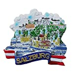 Salzburg Österreich, 3D-Kühlschrankmagnet, Reise-Souvenir, Geschenk, Heim- und Küchendekoration, Magnetaufkleber, Salzburg Österreich, Kühlschrankmagnet-Kollektion