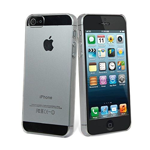 Muvit MUCRY0010 - Carcasa y protector de pantalla para Apple iPhone SE/5S/5, transparente