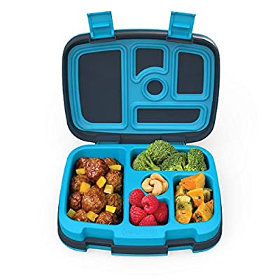 Bentgo Kids Leak-Proof, 5-Compartment Bento-Style Kids Lunch Box - Ideal Portion Sizes for Ages 3 to 7 - BPA-Free and Food-Safe Materials - 2020 Prints Collection - Dinosaur