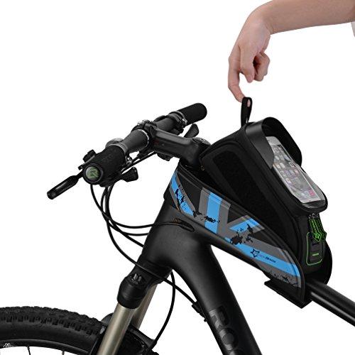 ROCKBROS Fahrrad Rahmentaschen Wasserdicht Lenkertasche Oberrohrtasche Mit Handytasche Für Bild Schirm 5.8''/6.0''