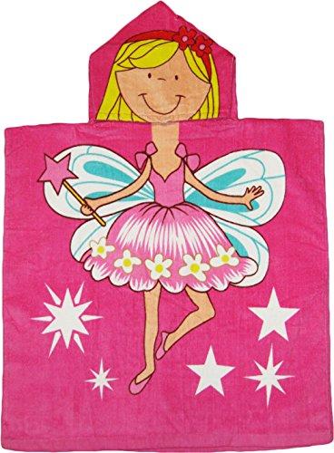 Color rosa hada con capucha de playa/toalla de baño artículo# kkt6501