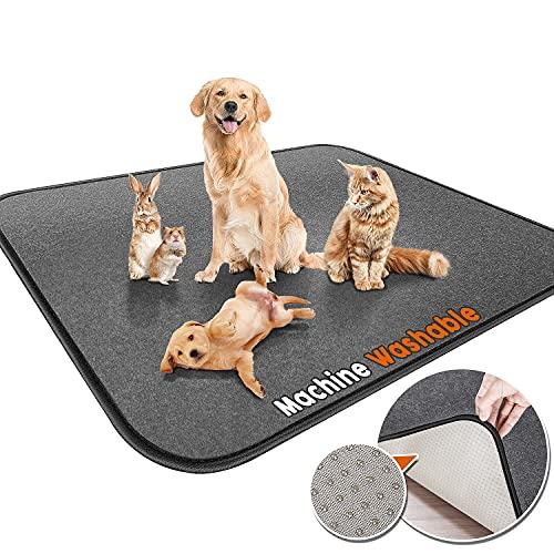 Gimars Upgrade Heavy Absorbency Non-Slip Washable Dog Pee Pads, Reusable 72'x72' Anti-Tear Dog...