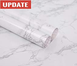 practicalWs Marble Contact Paper Granite Gray/White Roll Kitchen countertop Cabinet..