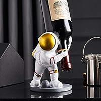 宇宙飛行士彫刻ワインホルダー家の装飾ワインボトルラック棚ワインスタンドバーカウンターワインキャビネット装飾 (B)