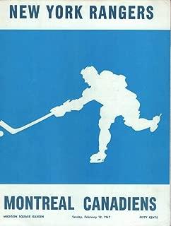 NEW YORK RANGERS MONTREAL CANADIENS 2/12/67 MADISON SQUARE GARDEN PROGRAM VINTAGE