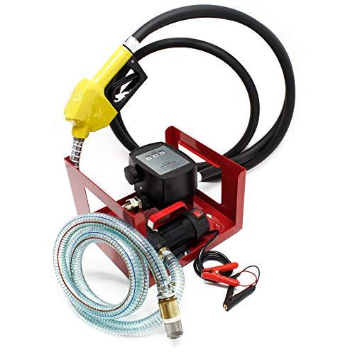 Bio Dieselpumpe Heizölpumpe selbstansaugend 24V 150W 40l/min automatische Pistole Umfüllpumpe
