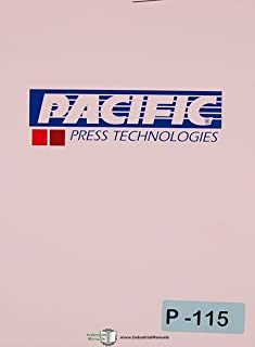 Pacific 100, Straight Side Press Brakes Operations Wiring Maintenance Parts Manual