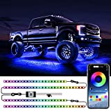 WILLED Underglow Kit for Car, RGB Car Underglow Lights with Bluetooth APP Control, 16 Million DIY Colors, Music Sync, Waterproof Exterior Car LED Lights , Underglow for Cars, Trucks, SUVs, DC 12V
