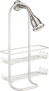 InterDesign Classico Bathroom Over the Pipe Shower Caddy for Shampoo, Conditioner, Soap - Pearl White