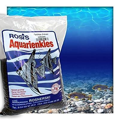 Farbkies Schwarz Aquarium Deko Kies Aquariengrund Aquariumkies Bodengrund Körnung 2-4 mm 15 kg (3 x 5 kg Beutel)