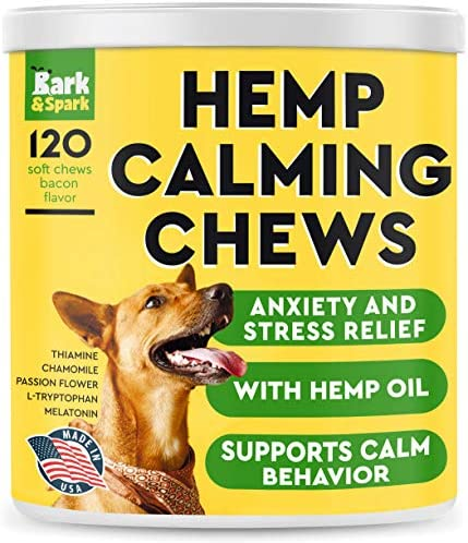 Calming Hemp Treats for Dogs Made in USA with Hemp Oil Anxiety Relief Separation Aid Stress product image