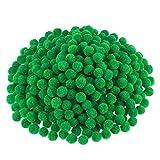 Pompoms pour Artisanat et Fournitures de Loisir, 500 Pièces, 1,2 cm/ 0,5 Pouce (Vert)