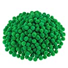 Pompoms for Craft Making and Hobby Supplies, 500 Pieces, 1.2 cm/ 0.5 Inch (Green)