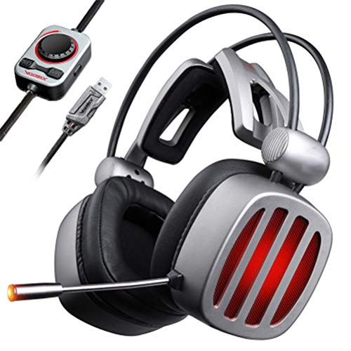 VISZC Casque Gaming pc 7.1 Virtual Surroun - Casque Gaming Headset pour Micro-Black