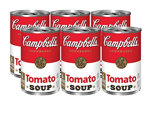Campbell's Condensed Soup, Tomato, 10.75 oz Can (Pack of 6)