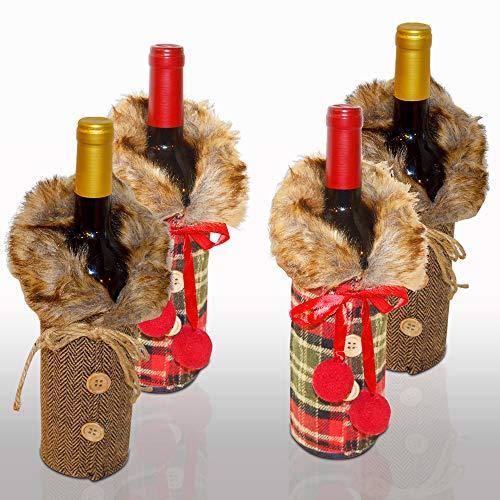Christmas Wine Gift Bags Gnomes Wine Bottle Cover, Wine Bottle Covers Santa Claus Bottle Bags Holiday Wine Gift Bag Christmas Decorations Wine Gift Bag Navidad Decoracion