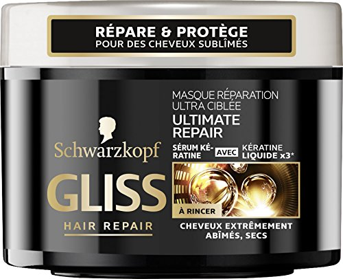 Schwarzkopf - Gliss - Masque Réparation Cheveux Ultra-Cible Ultimate Repair - Pot 200 ml - Lot de2
