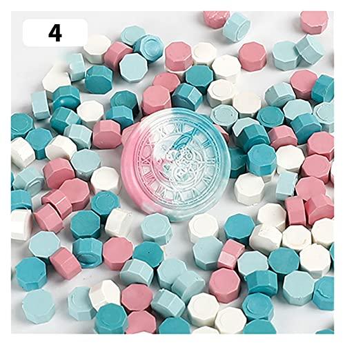 JSJJAWS Sello de Cera Juego de Caja de Sello de Cera DIY Sello Desmontable Conjunto de Cuchara Sello de Sellado Retro Sello de Cera Sello de fusión sobre Regalos de Boda (Color : 100pcs 2Bags 02)